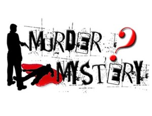 Murder mystery standing over body